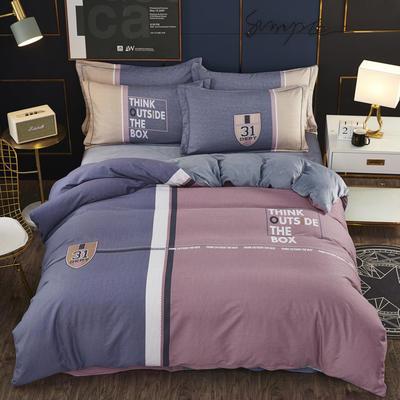 2019新款-棉加水晶绒四件套 床单款1.8m(6英尺)床 罗本