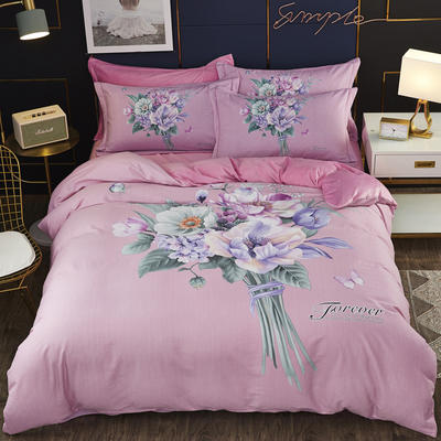 2019新款-棉加水晶绒四件套 床单款1.8m(6英尺)床 米安诺