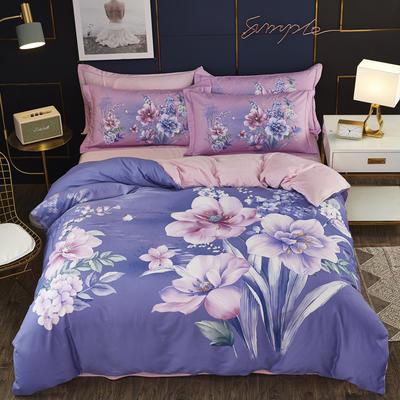 2019新款-棉加水晶绒四件套 床单款1.8m(6英尺)床 欧尼