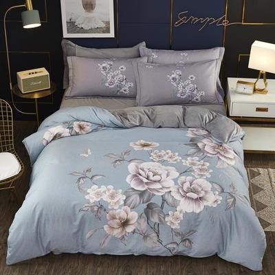2019新款-棉加水晶绒四件套 床单款1.8m(6英尺)床 雅漾-绿