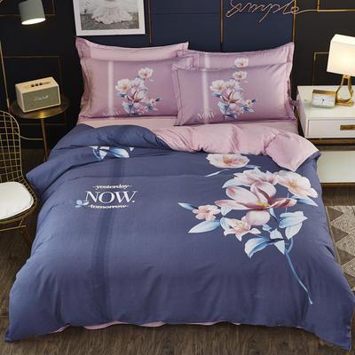 2019新款-棉加水晶绒四件套 床单款1.5m(5英尺)床 云舒