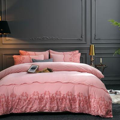 2019新款-莫妮卡宝宝绒四件套系列 床单款1.8m(6英尺)床 莫妮卡-玉