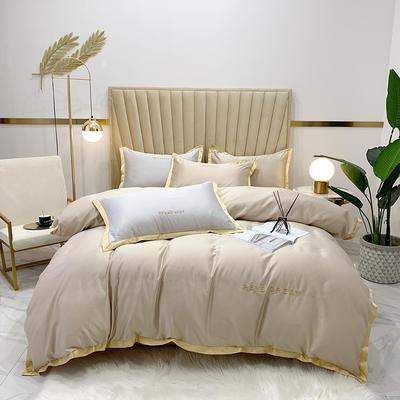 2020新款-简爱水洗真丝系列四件套 床单款1.5m(5英尺)床 简爱-卡其(双面水洗真丝)