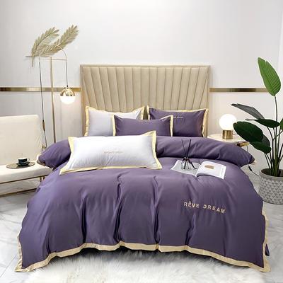 2020新款-简爱水洗真丝系列四件套 床单款1.5m(5英尺)床 简爱-靓紫(双面水洗真丝)