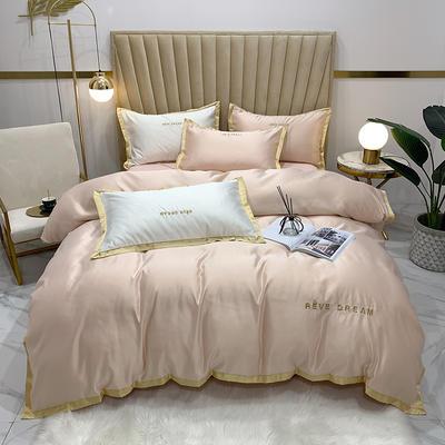 2020新款-简爱水洗真丝系列四件套 床单款1.5m(5英尺)床 简爱-香槟(双面水洗真丝)