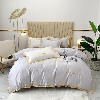 2020新款-简爱水洗真丝系列四件套 床单款1.5m(5英尺)床 简爱-银灰(双面水洗真丝)