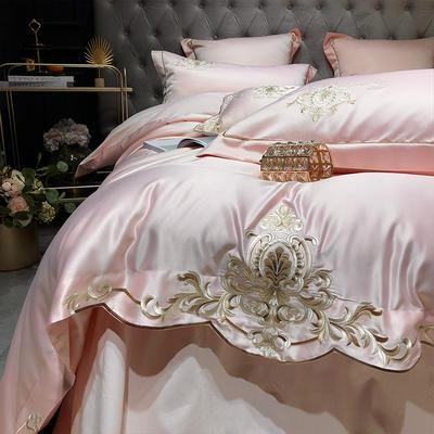 2020新款-梦巴黎水洗真丝系列四件套 床单款1.5m(5英尺)床 梦巴黎-玉色(双面水洗真丝)