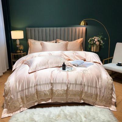 2020新款-金色年华水洗真丝系列四件套 床单款四件套1.5m(5英尺)床 金色年华-香槟(双面水洗真丝)