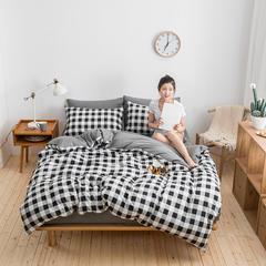 COOL酷   2018新款简约风针织棉四件套 标准1.5-1.8m床 风尚