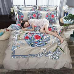 【cool酷家纺】  2018新款植物羊绒磨毛四件套 1.5m(5英尺)床 半生缘