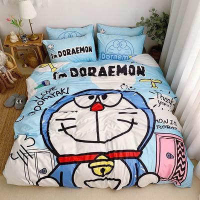 2019新款-宝宝绒数码印四件套 床单款1.2m(4英尺)床 机器猫