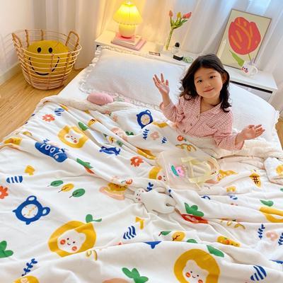 2020新款-加厚元气系可爱羊羔绒毛毯牛奶绒毯子 200*230cm 百分甜心