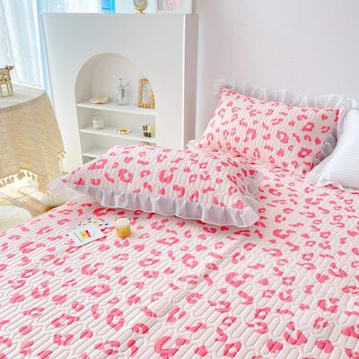 2021新款仙女缦纱·简约·乳胶凉席床裙款三件套 180*200cm(枕套一对) 豹纹粉