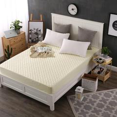床笠纯棉加厚床笠 方格纹 枕套/对 1米黄