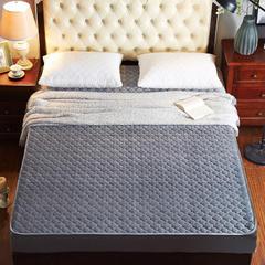 床笠水晶绒床笠 枕套/对 灰色