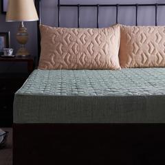 彩棉床笠 135cmx200cm 几何空间-绿