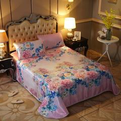 冰丝席床笠冰丝席床笠三件套床单三件套 150*200床单2件套 巴黎之夜