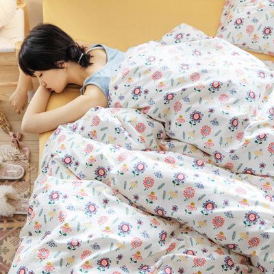 2020春夏少女心系列全棉四件套 1.2m床单款三件套 花颜