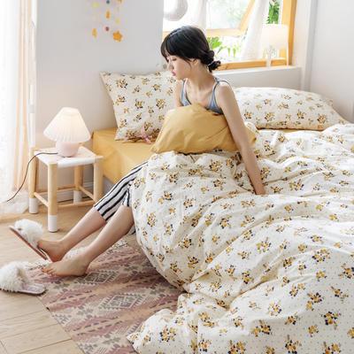 2020春夏少女心系列全棉四件套 1.2m床单款三件套 花语