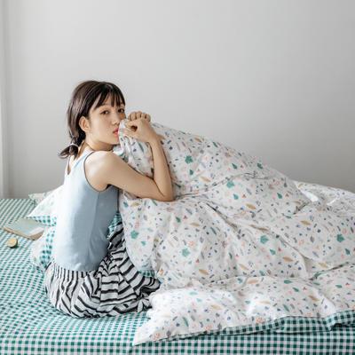 2020春夏少女心系列全棉四件套 1.2m床单款三件套 溢彩