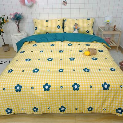 2020少女心系列全棉四件套实拍图 1.2m床单款三件套 七色花