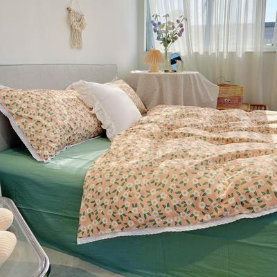 2021新款全棉蕾丝花边系列四件套 1.5m床单款四件套 花的海洋