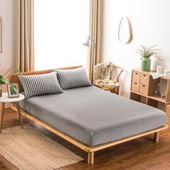 针织棉四件套单品(床笠) 120cmx200cm 洋灰