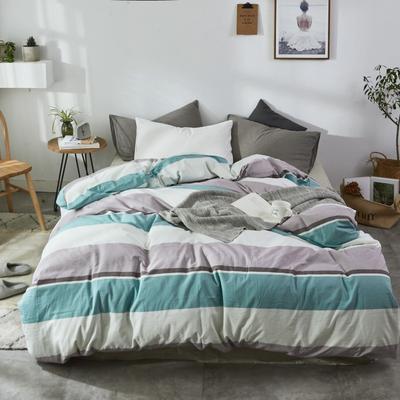 2019新款-色织水洗棉单品枕套 48cmX74cm 格调绿