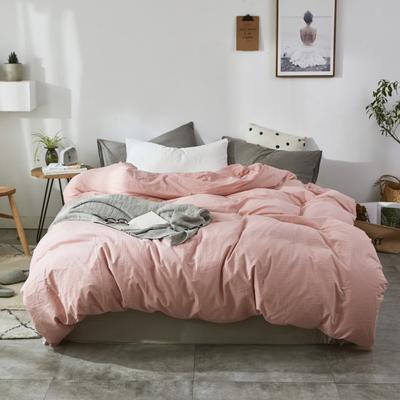 2019新款-色织水洗棉单品枕套 48cmX74cm 像皮粉