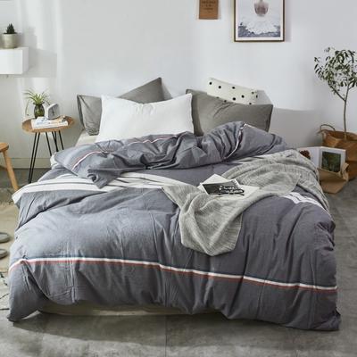 2019新款-色织水洗棉单品枕套 48cmX74cm 运动灰