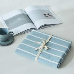 2018新款-色织水洗棉单品床单 160cmx240cm 蓝白条