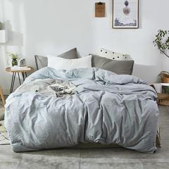 2018新款-色织水洗棉单品被套 150x200cm 单品被套纯浅蓝