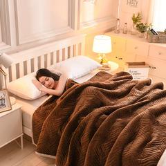 加厚法莱绒毛毯 150*200 cm 咖啡