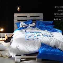 乐趣+运动系列四件套 1.8m(6英尺)床 西奥多--蓝
