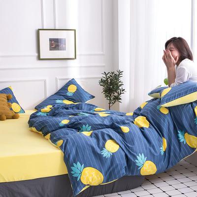 2019新款13372棉加绒保暖四件套 1.2m床单款三件套 菠萝之恋