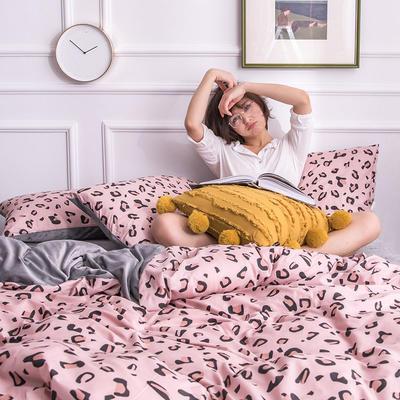 2019新款13372棉加绒保暖四件套 1.8m床单款四件套 魅惑