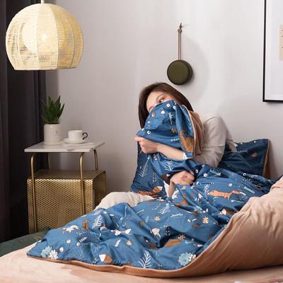 2019新款13372棉加绒保暖四件套 1.8m床单款四件套 尼亚-兰
