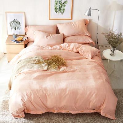 2019新款色织精梳绒水晶绒四件套-臻简时光 1.5m床单款 臻简时光-暖柔沙