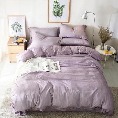 2019新款色织精梳绒水晶绒四件套-臻简时光 1.5m床单款 臻简时光-芋紫