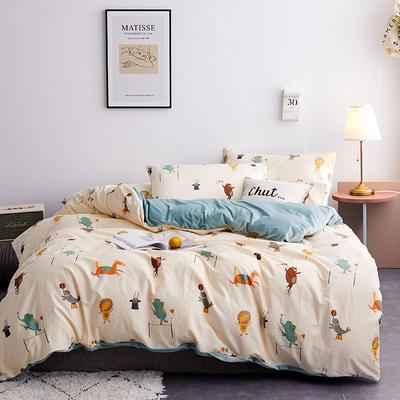 2019新款13372棉加绒保暖四件套 1.2m床单款三件套 乐奇