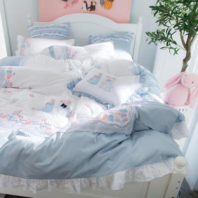 2018新款60S长绒棉-梦游仙境四件套 小抱枕/一个含芯 梦游仙境