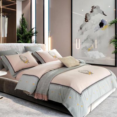 2018新款-奢纺绒色纺磨毛四件套 1.5m(5英尺)床 贝拉