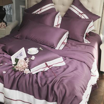 2019新款-60支天丝四件套(实拍) 小抱枕/一个含芯 紫色