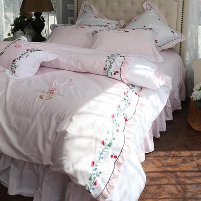 2019新款-60支长绒棉可爱兔四件套 1.5m(5英尺)床 可爱兔