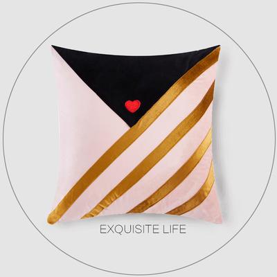 2019新款-輕奢抱枕含芯 正方形45*45cm/含芯 017#