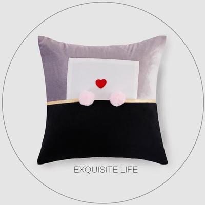 2019新款-轻奢抱枕含芯 正方形45*45cm/含芯 018#