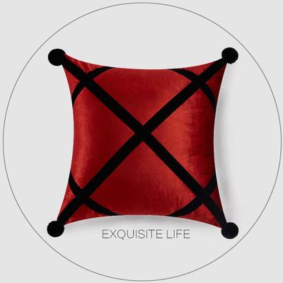 2019新款-轻奢抱枕含芯 正方形45*45cm/含芯 019#