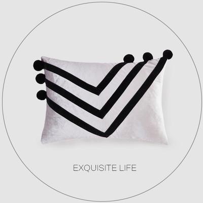 2019新款-轻奢抱枕含芯 长方形35*50/含芯 026#