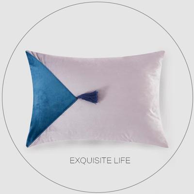 2019新款-轻奢抱枕含芯 长方形35*50/含芯 029#
