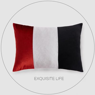 2019新款-轻奢抱枕含芯 长方形35*50/含芯 030#